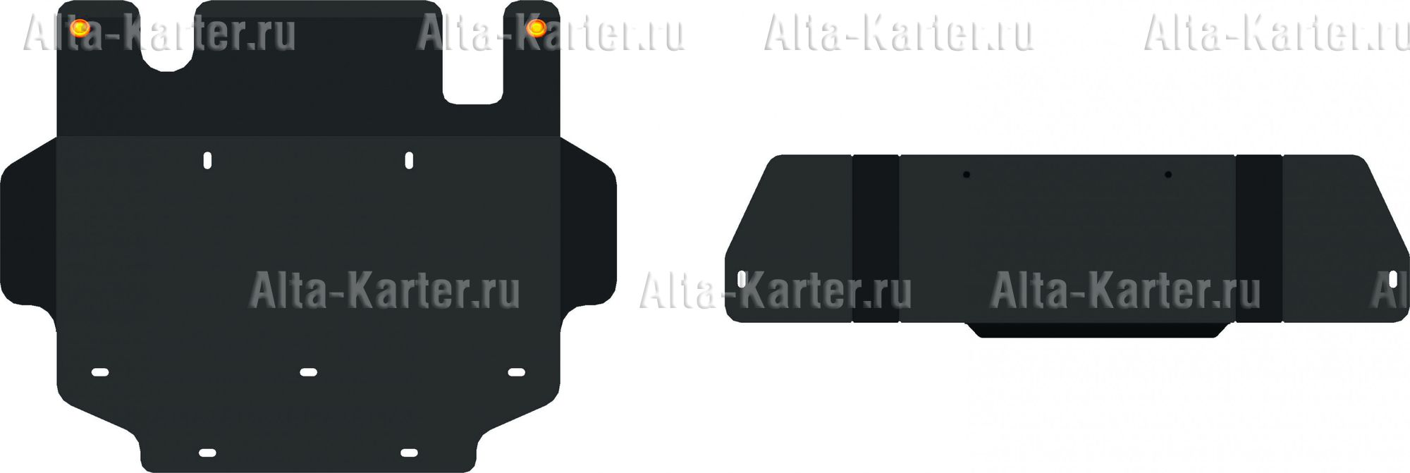 Защита Alfeco для КПП и РК Nissan Patrol Y61 (3-дв. 3.0 TD) 2000-2010. Артикул ALF.15.26