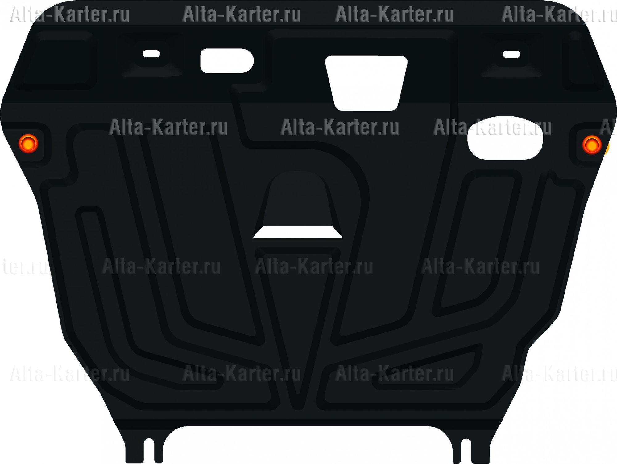 Защита Alfeco для картера и КПП Toyota Avensis T270 2009-2018. Артикул ALF.24.75 st