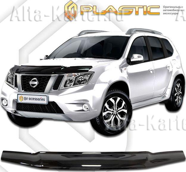 Дефлектор СА Пластик для капота (Classic черный) Nissan Terrano III 2014 по наст. вр.. Артикул 2010010109769