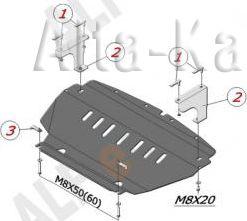 Защита Alfeco для картера Infiniti FX 35, 45 2003-2008. Артикул ALF.29.09