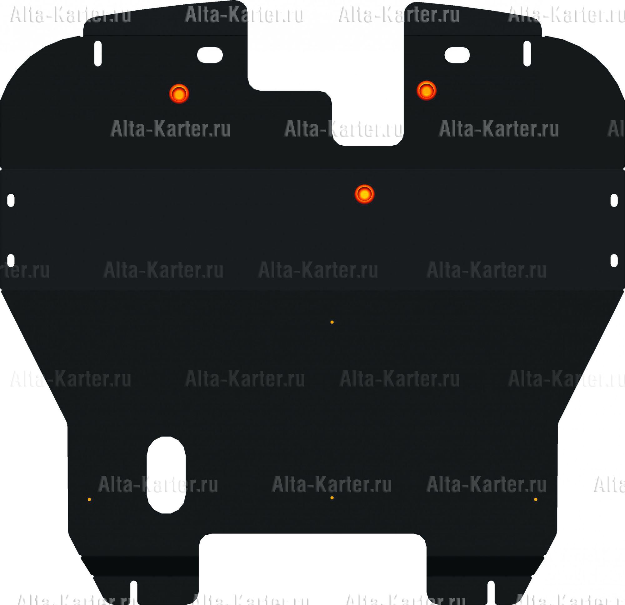 Защита Alfeco для картера и КПП Mitsubishi Carisma 1999-2004. Артикул ALF.14.39