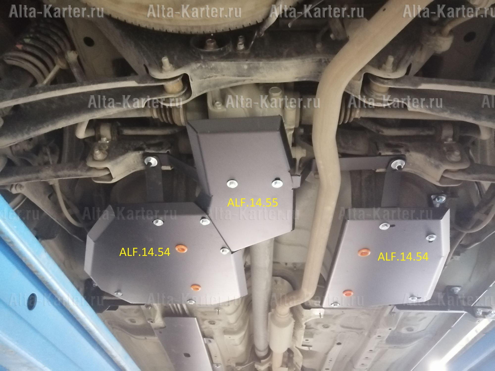 Защита Alfeco для топливного бака Mitsubishi Outlander III 4WD 2012-2021. Артикул ALF.14.54