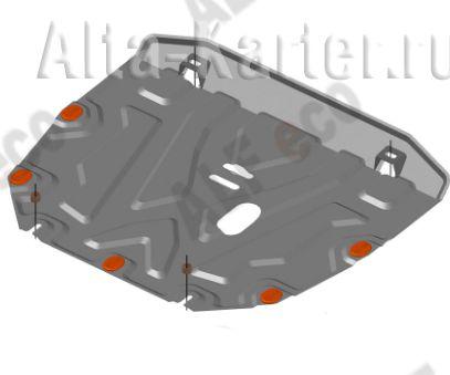 Защита Alfeco для картера и КПП Honda CR-V IV рестайлинг 2015-2018. Артикул ALF.09.37