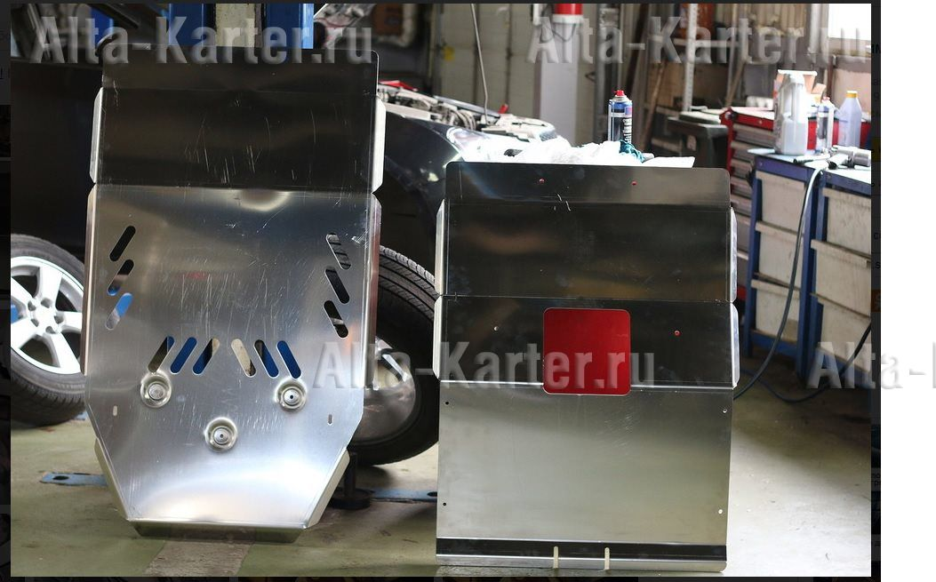Защита алюминиевая АВС-Дизайн для днища GMC Savana II рама 1500, АКПП, 4Х4 2003-2021. Артикул 04.30ABC