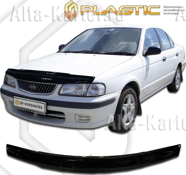 Дефлектор СА Пластик для капота (Classic черный) Nissan Sunny 1998-2002. Артикул 2010010101176