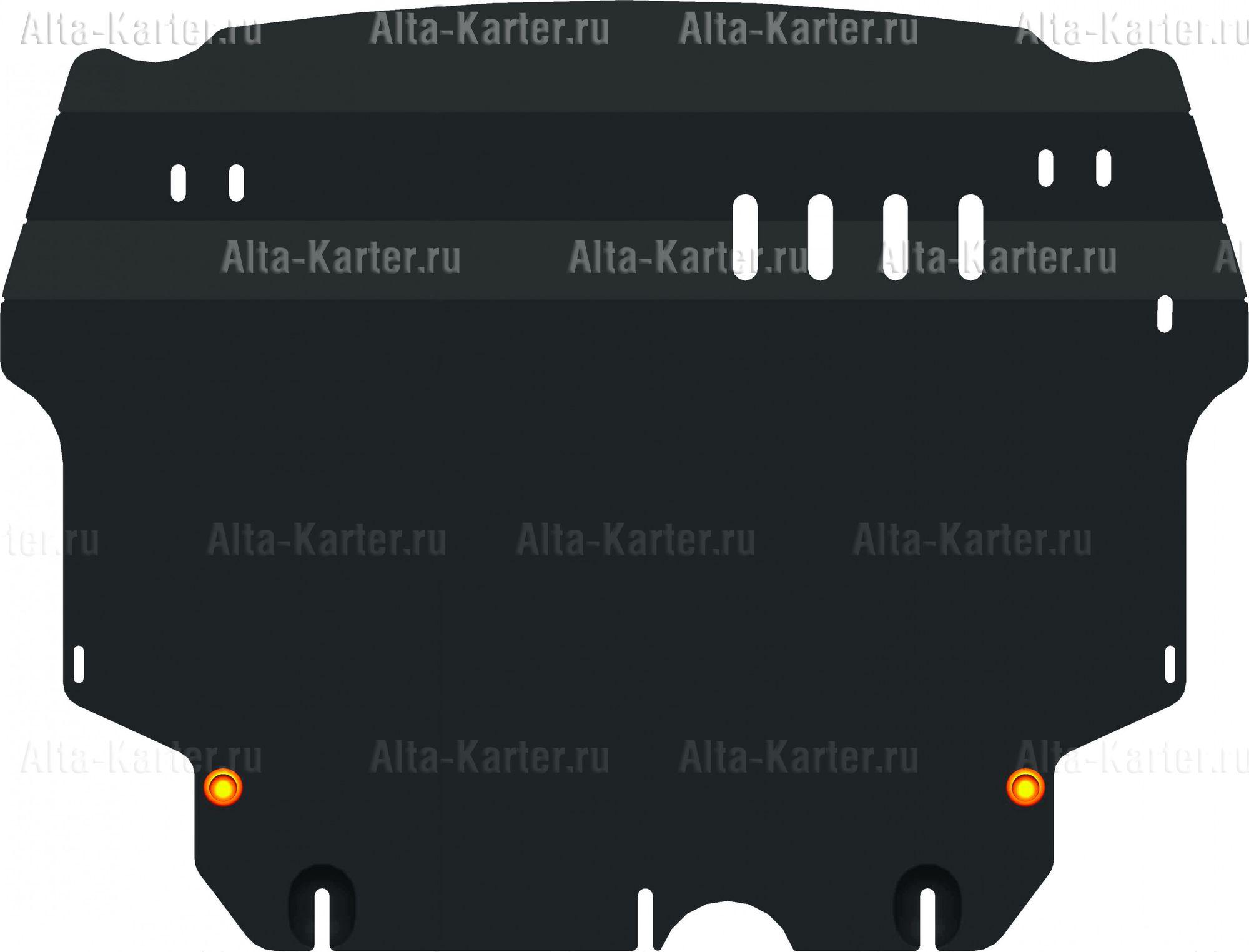 Защита Alfeco для картера и КПП Volkswagen Beetle A5 2013-2019. Артикул ALF.26.40