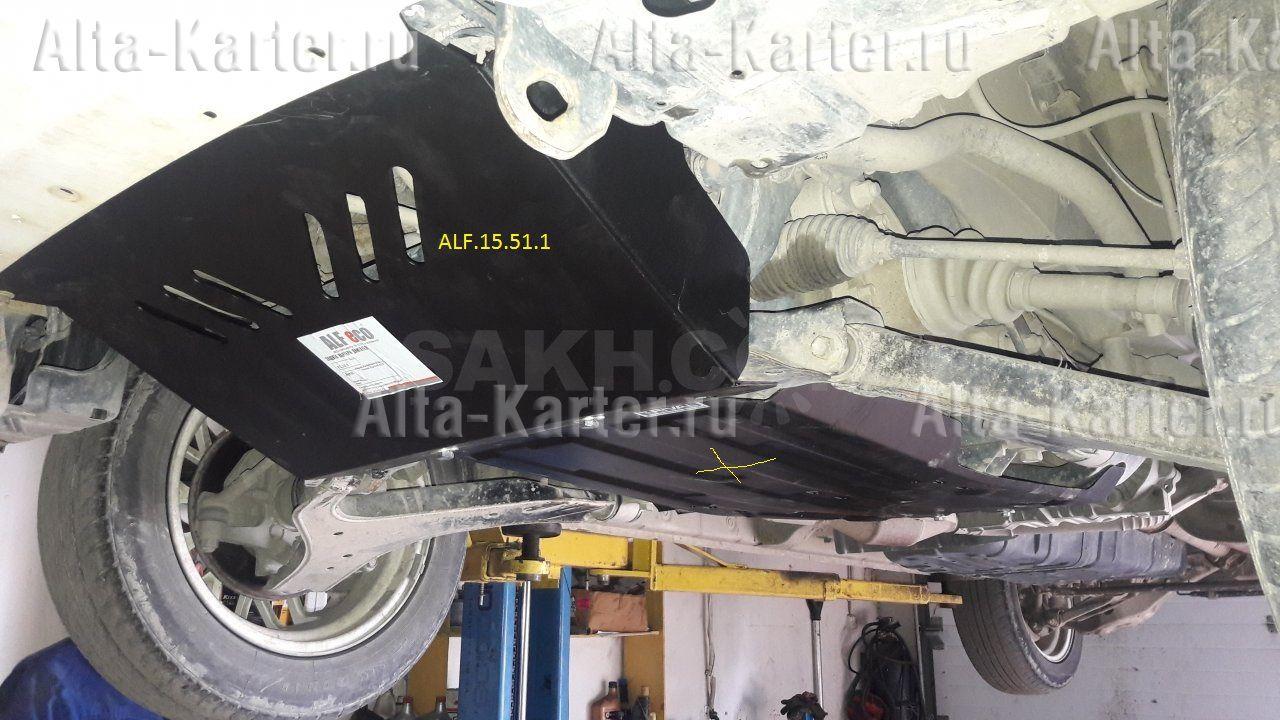 Защита Alfeco для картера Nissan Pathfinder R50 1995-2004. Артикул ALF.15.51.1