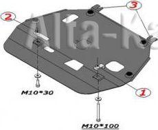 Защита Alfeco для картера и КПП Toyota Corolla E140 2007-2013. Артикул ALF.24.07