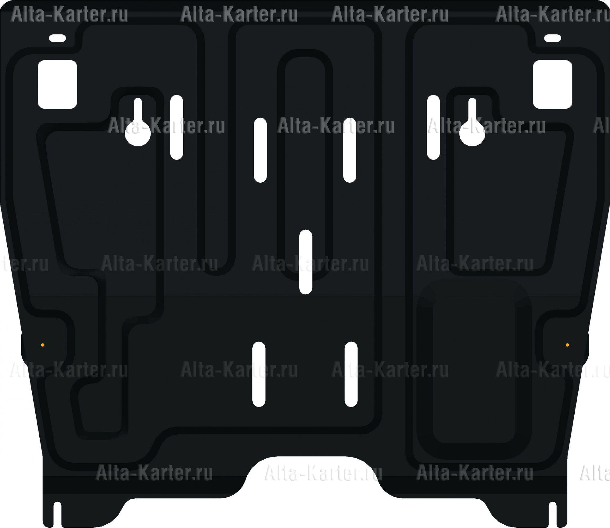 Защита Alfeco для картера и КПП Nissan Teana J32 2008-2014. Артикул ALF.15.45
