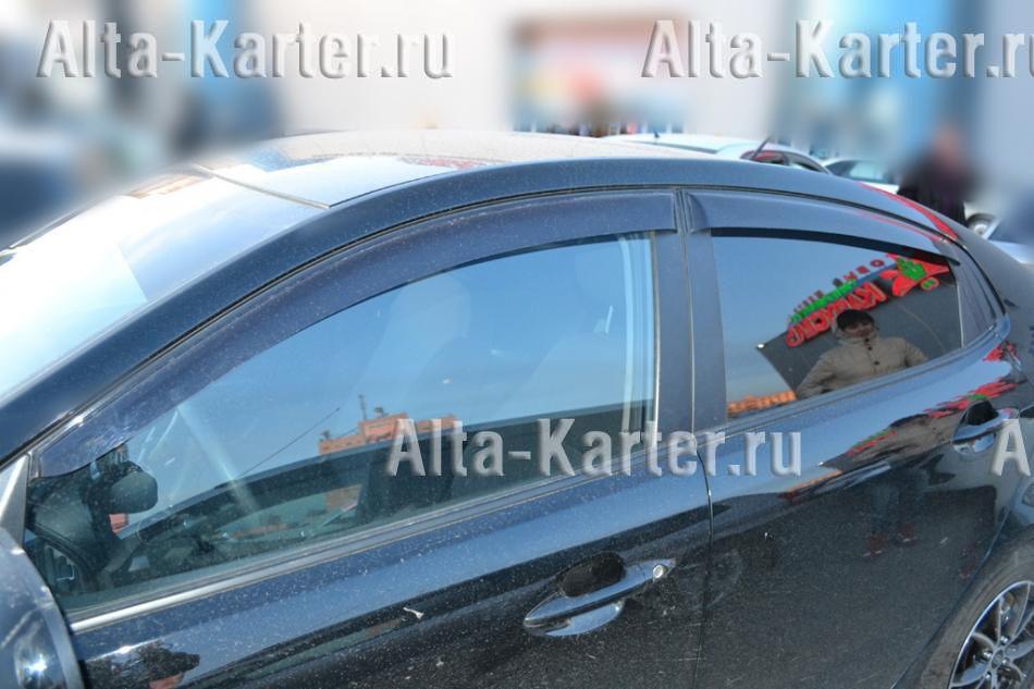 Дефлекторы Cobra Tuning для окон (c хром. молдингом) Renault Kaptur 2016 по наст. вр.. Артикул R13516CR