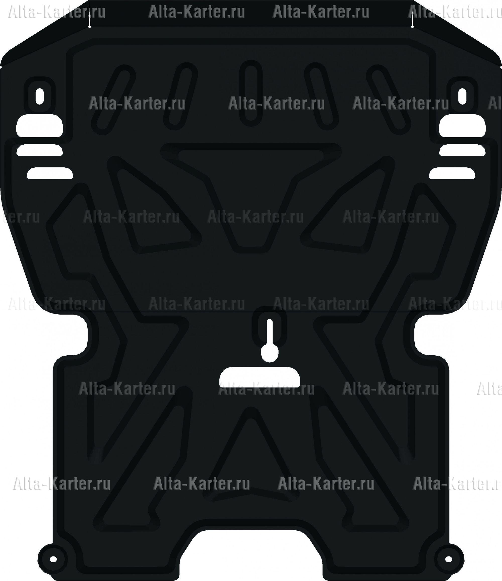 Защита Alfeco для картера и КПП Porsche Macan 2014-2021. Артикул ALF.50.04