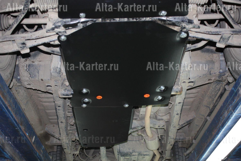 Защита Alfeco для КПП и раздатки Mitsubish Pajero Mini 1998-2012. Артикул ALF.14.41