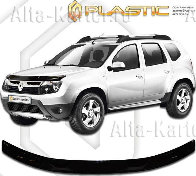 Дефлектор СА Пластик для капота (Classic черный) Renault Duster 2011-2015. Артикул 2010010106843