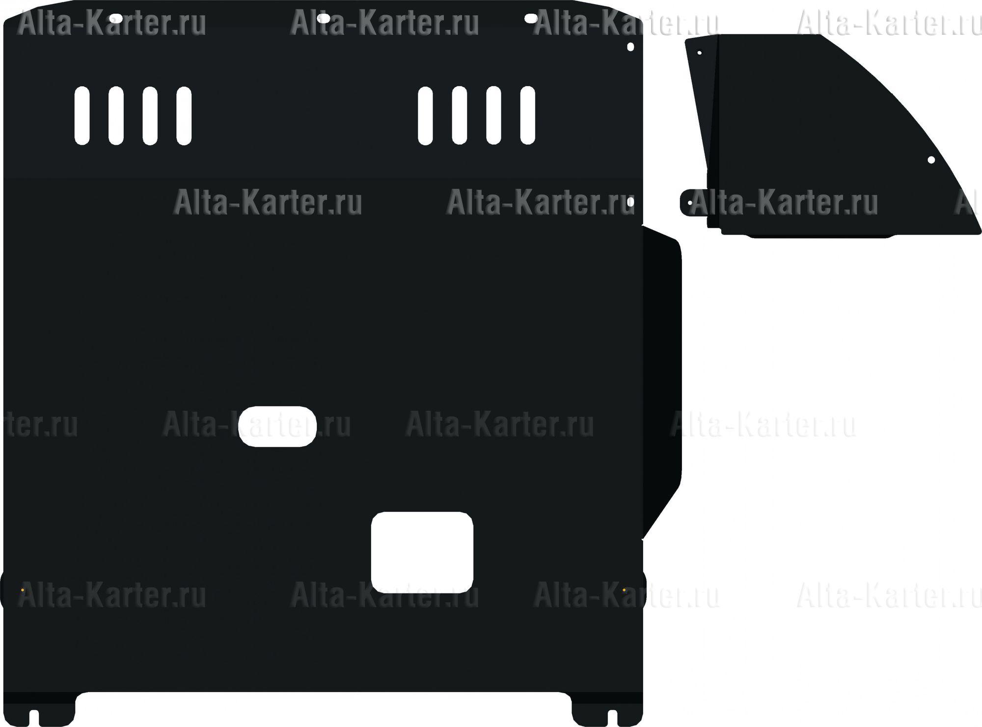 Защита Alfeco для картера и КПП Fiat Ducato III 2006-2021. Артикул ALF.17.08
