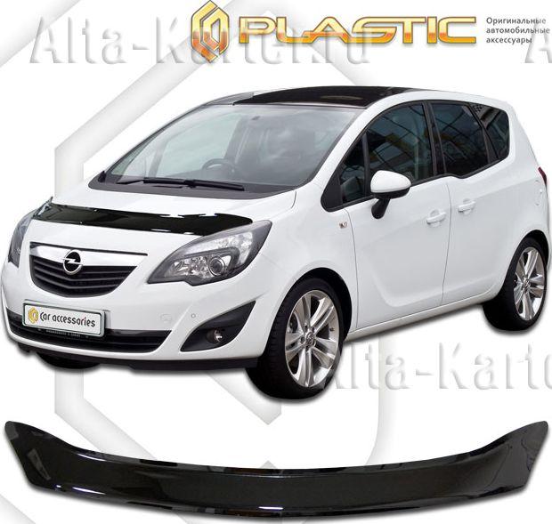 Дефлектор СА Пластик для капота (Classic черный) Opel Meriva 2011 по наст. вр.. Артикул 2010010106669
