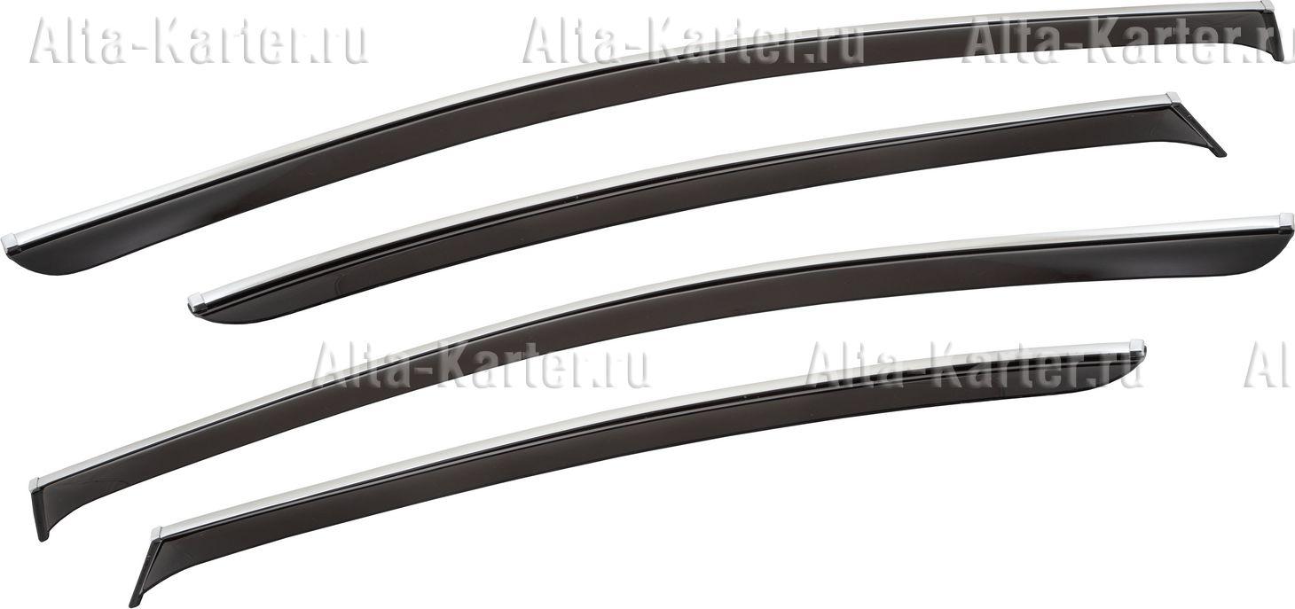 Дефлекторы Chromex для окон (c хром. молдингом) (4 шт.) Volkswagen Passat седан 2011–2015. Артикул CHROMEX.63031