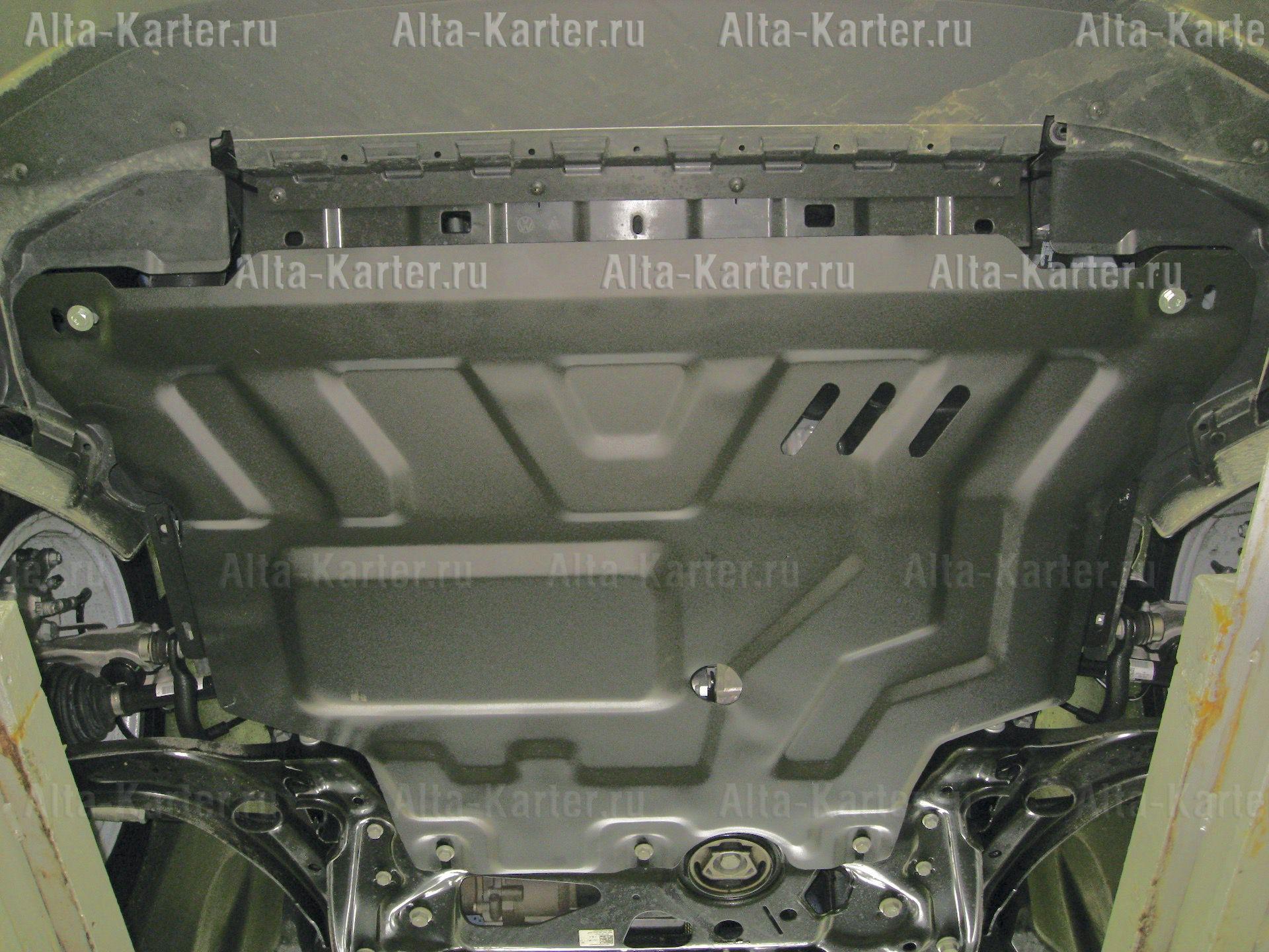 Защита Alfeco для картера и КПП Volkswagen Tiguan II 2017-2021. Артикул ALF.26.44st