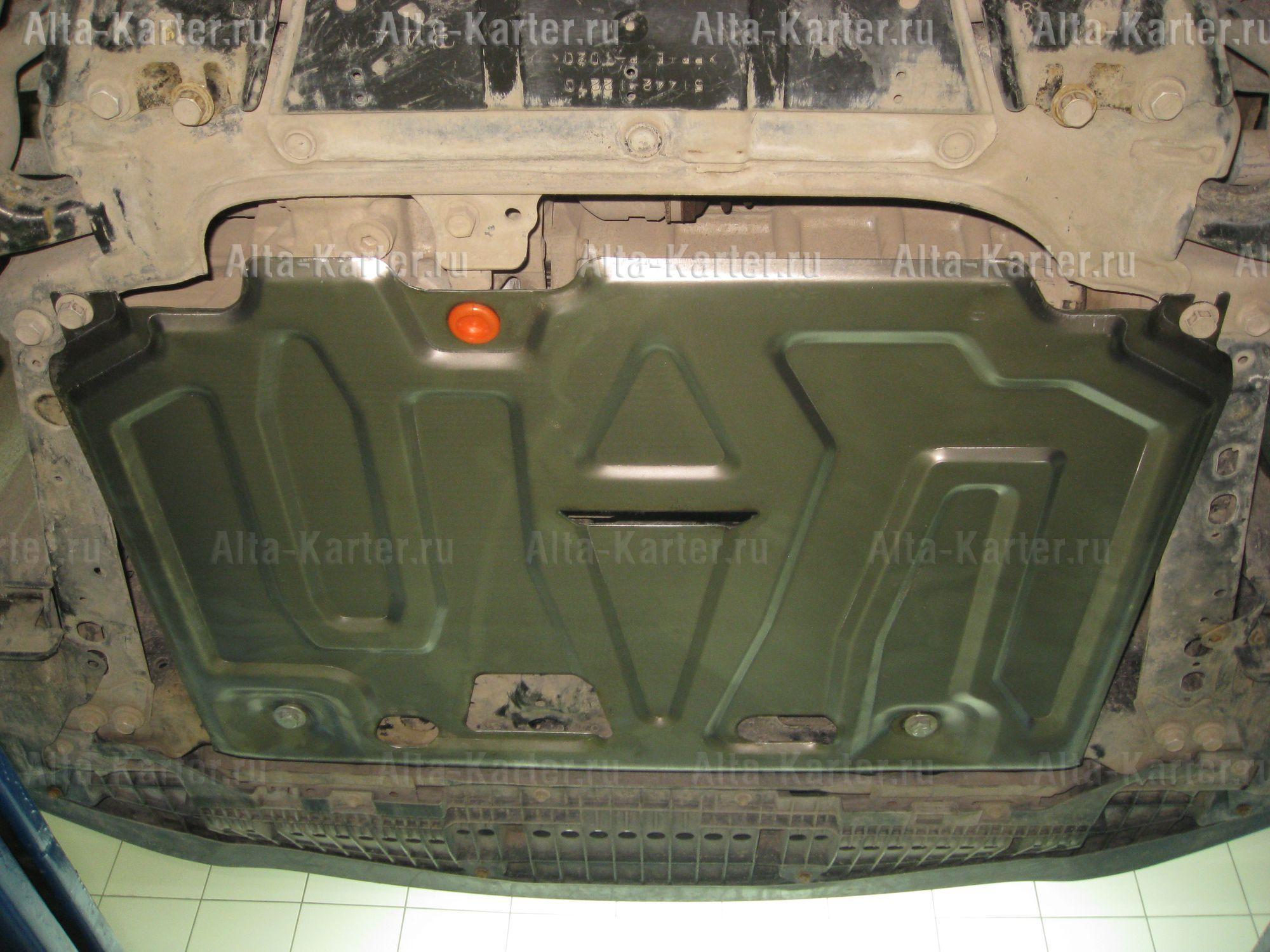 Защита Alfeco для картера и КПП Toyota Auris I E150 2007-2012. Артикул ALF.24.750st