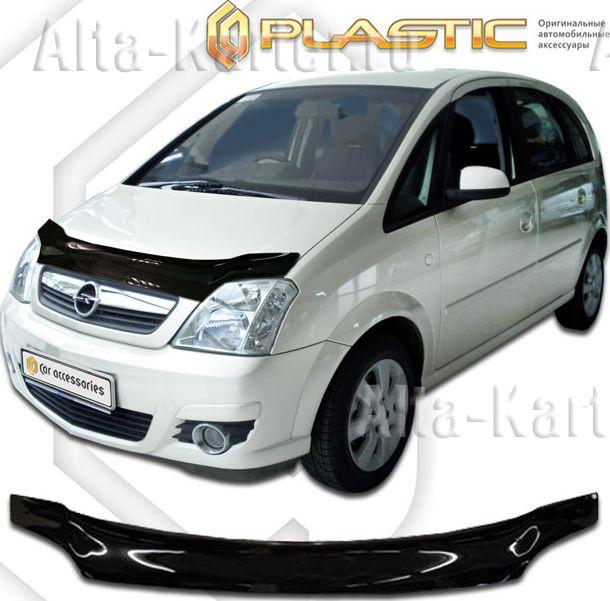Дефлектор СА Пластик для капота (Classic черный) Opel Meriva 2004-2006. Артикул 2010010101459