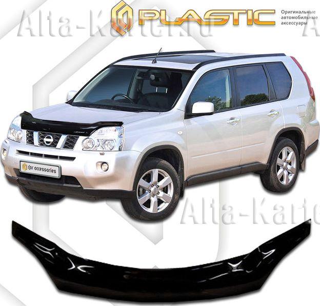 Дефлектор СА Пластик для капота (Classic черный) Nissan X-Trail  T31 2007-2014. Артикул 2010010109479