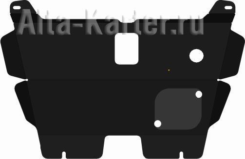Защита алюминиевая Alfeco для картера и КПП Hafei Brio 2002-2010. Артикул ALF.40.01 AL4