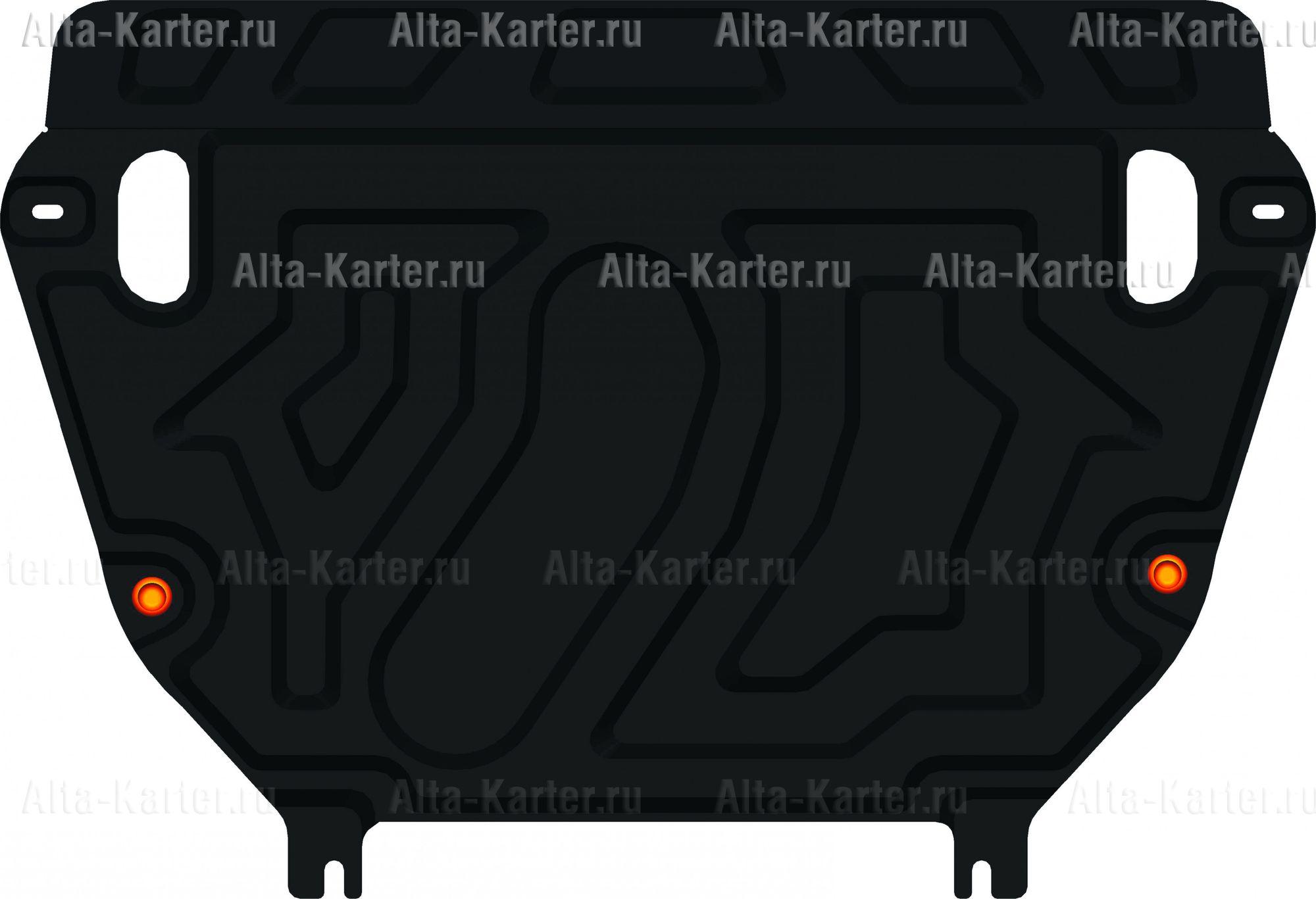 Защита Alfeco для картера и КПП Toyota RAV4 III 2010-2013 (на штатный пыльник). Артикул ALF.24.66 st