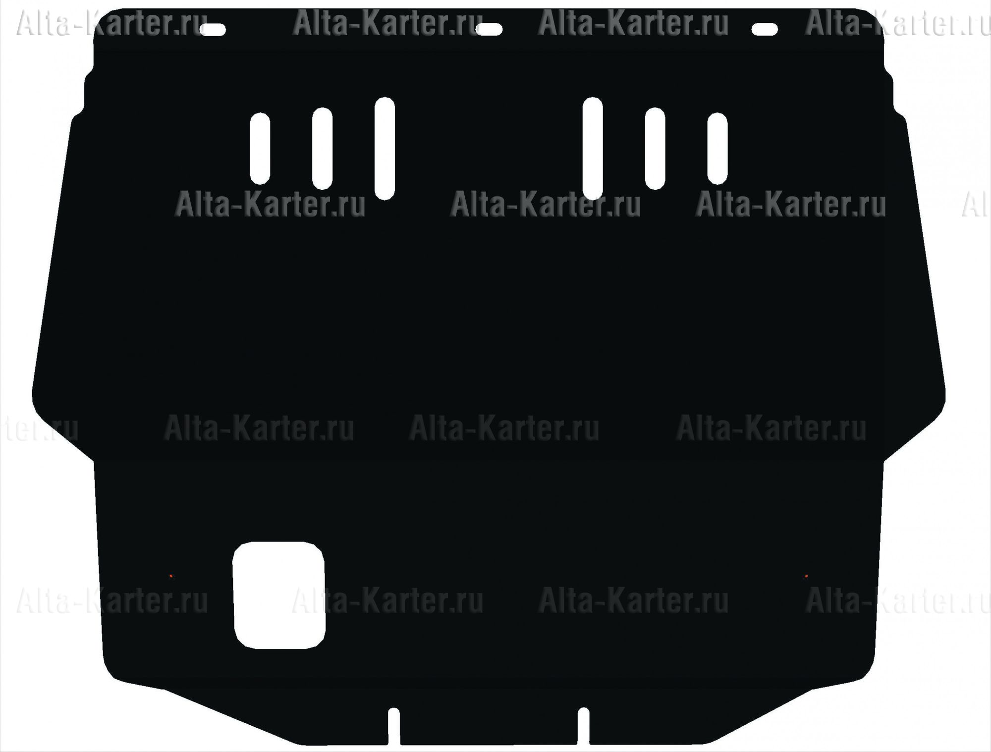 Защита Alfeco для картера и КПП Renault Kangoo I 1998-2003. Артикул ALF.04.05