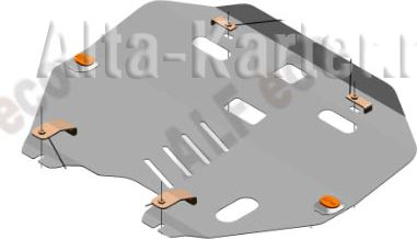Защита Alfeco для картера и КПП Nissan Teana J31 2003-2008. Артикул ALF.15.78