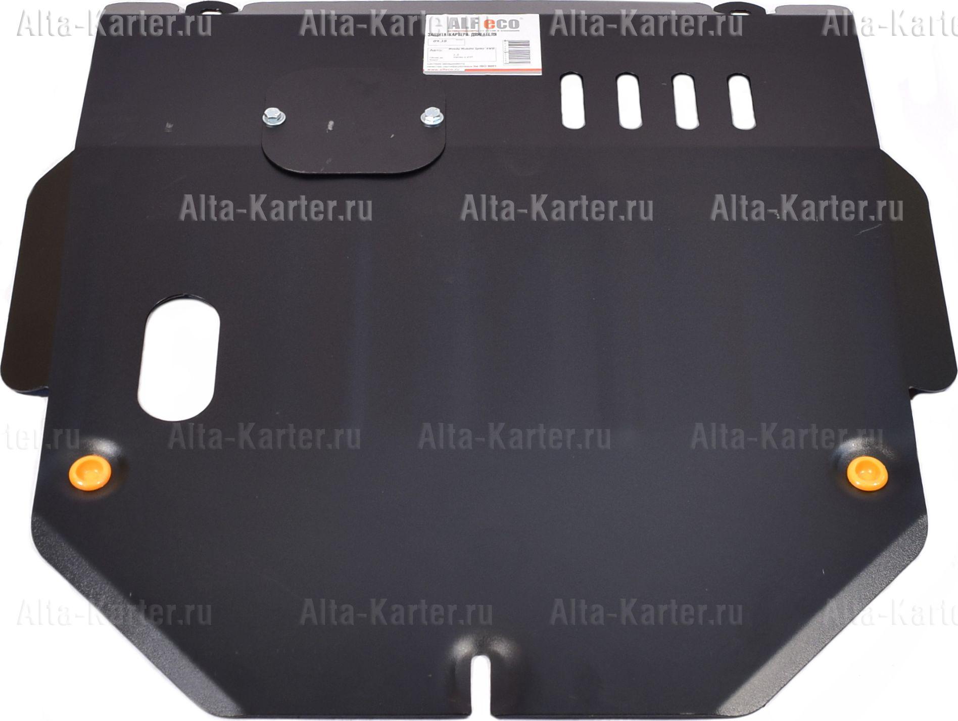 Защита Alfeco для картера и КПП Honda Mobilio Spike 4WD 2002-2008. Артикул ALF.09.38