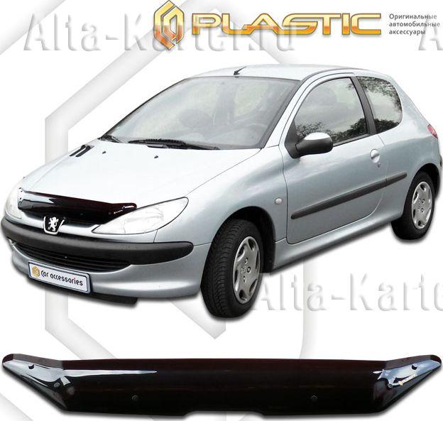 Дефлектор СА Пластик для капота (Classic черный) Peugeot 206 2003-2009. Артикул 2010010112646
