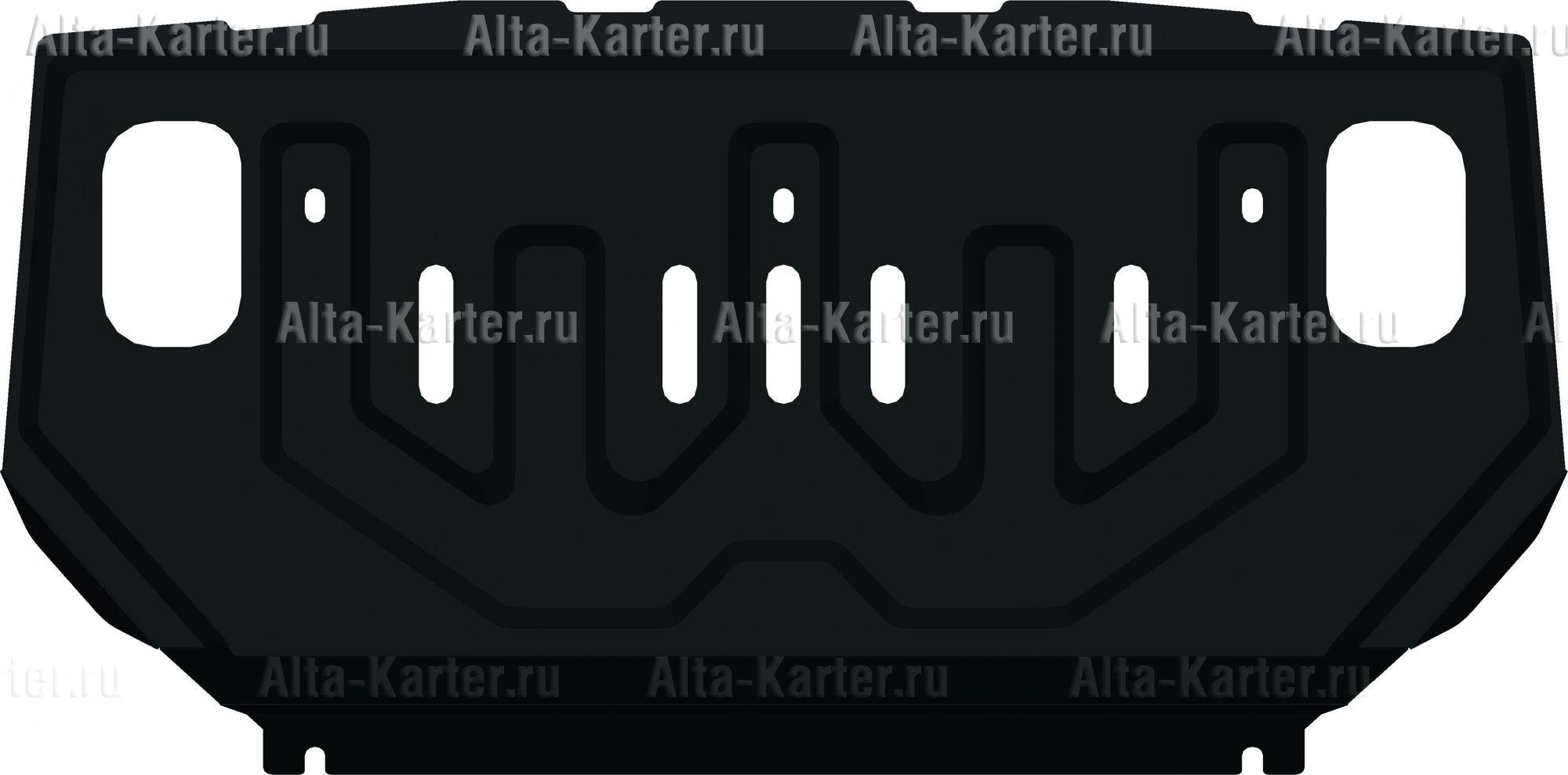 Защита Alfeco для радиатора Mitsubishi Pajero IV 2006-2021. Артикул ALF.14.05 st