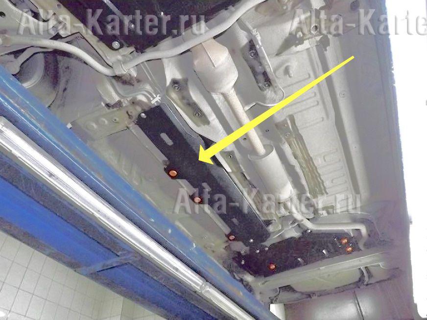 Защита Alfeco для топливопровода Renault Duster 2015-2021. Артикул ALF.28.21