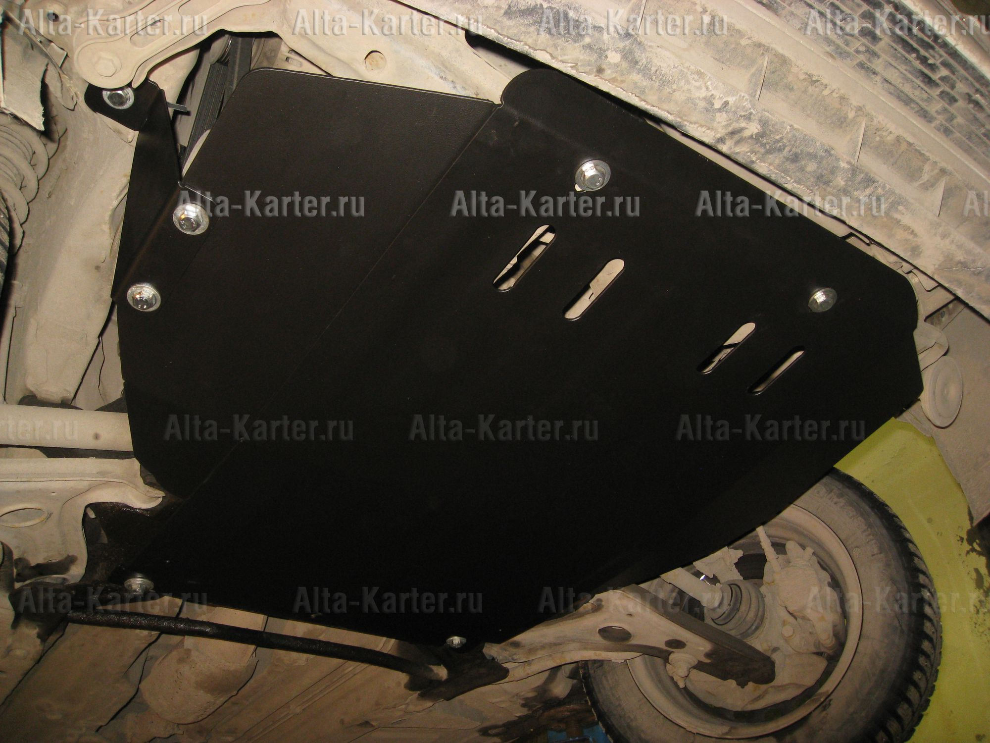 Защита Alfeco для картера и МКПП Volkswagen Passat B3, B4 1988-1997. Артикул ALF.26.25