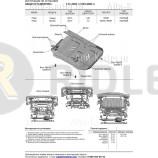 Защита алюминиевая Rival для радиатора Foton Sauvana 4WD 2017-2021. Артикул 333.4401.1