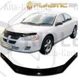 Дефлектор СА Пластик для капота (Classic черный) Dodge Stratus 2004-2006. Артикул 2010010104740
