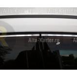 Дефлекторы Cobra Tuning для окон (с хром. молдингом) Porsche Cayenne I 2002-2010. Артикул V21903CR