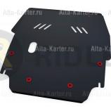 Защита АвтоБРОНЯ для картера и КПП Chrysler Sebring II 2000-2006. Артикул 111.06201.1