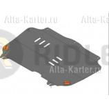 Защита алюминиевая Alfeco для картера и КПП Ravon R2 2016-2021. Артикул ALF.03.14 AL4