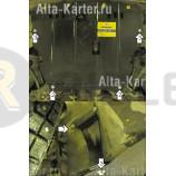 Защита Мотодор для картера, КПП Smart ForFour 2004-2006. Артикул 05502