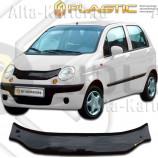 Дефлектор СА Пластик для капота (Classic черный) Daewoo Matiz 2000-2005. Артикул 2010010102074