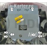 Защита алюминиевая Мотодор для картера, КПП Lancia Lybra 1999-2001. Артикул 36101