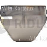 Защита алюминиевая АВС-Дизайн для картера Smart ForTwo 2007-2014. Артикул 37.01ABC