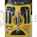 Набор ключей комбинированных трещеточных В комплекте: 7 ключей