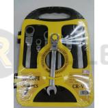 Набор ключей комбинированных трещеточно-поворотные В комплекте: 7 ключей