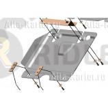 Защита алюминиевая 'Alfeco' для картера JAC T6 2018-2021. Артикул ALF.56.04 AL4