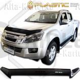 Дефлектор СА Пластик для капота (Classic черный) Isuzu D-MAX  Double Cab 2013–2021. Артикул 2010060112283