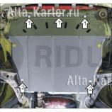 Защита Мотодор для двигателя, КПП JAC Rein 2010-2021. Артикул 00924