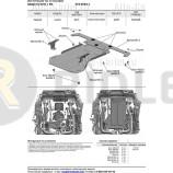 Защита алюминиевая Rival для КПП и РК Maserati Levante I рестайлинг (с 2018 года с ЭУР) 2017-2021. Артикул 333.3604.1