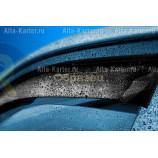 Дефлектор REIN прямой без лого для окон (накладной скотч 3М) (2 шт.) DAF XF 95 1997-@NOW Синий. Артикул REINWV839Swl