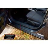 Накладки на внутренние пороги задних дверей (2шт.) Opel Astra универсал 2006-2012